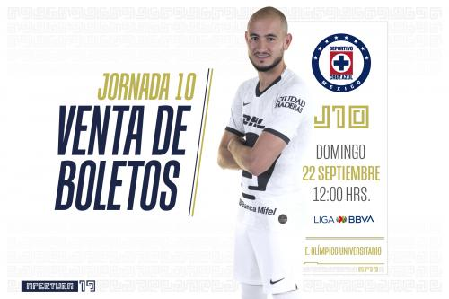 Venta de boletos Pumas vs Cruz Azul