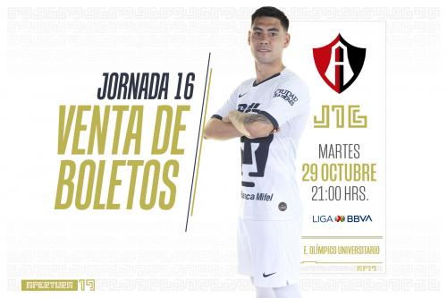Venta de boletos Pumas vs Atlas