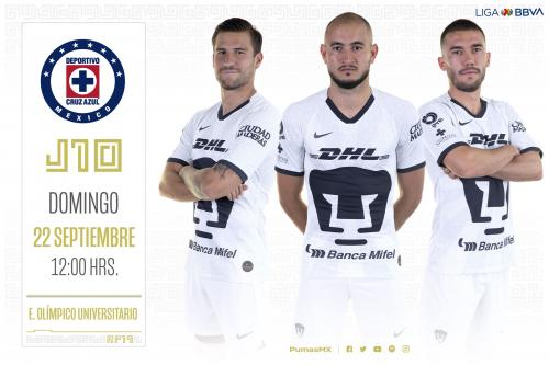 Pumas recibe a Cruz Azul este domingo