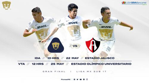 Horarios y Boletos para la Gran Final S-17 entre Pumas y Atlas