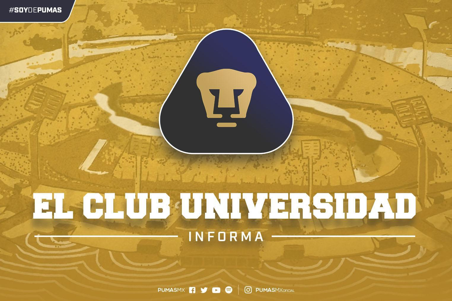 El Club Universidad Nacional, informa:
